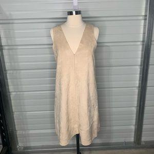Zara Basic Collect Tan Sleeveless Dress